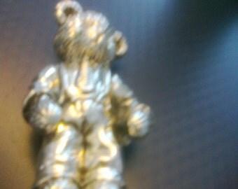 Vintage 925 silver teddy bear