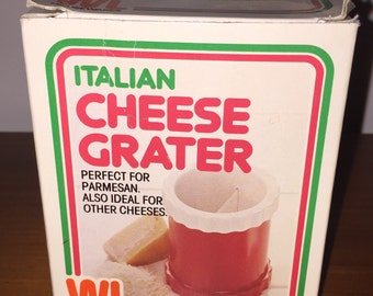 Vintage Retro Italian Cheese Grater - as new in box