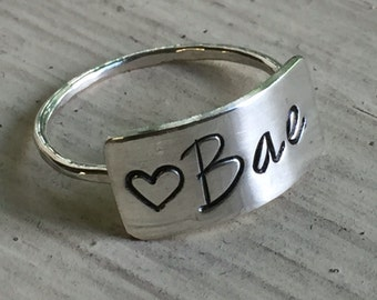 Gift for Bae - Silver - For Bae - Ring