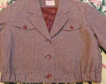 Jacket short pendleton style hollywood year 1950 s!