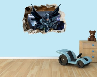Batman 3D Effect Graphic Wall Vinyl Sticker Decal