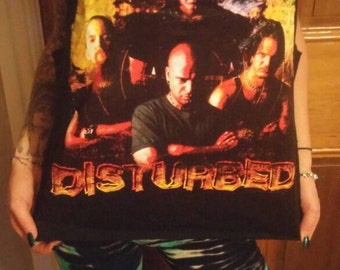 Disturbed upcycled concert tee