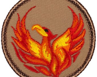 Phoenix Patch (310) 2 Inch Diameter Embroidered Patch