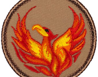 "2"" Diameter Embroidered Phoenix Patch (310)"