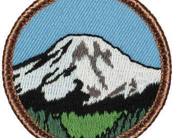Mt. Rainier Patch (632) 2 Inch Diameter Embroidered Patch