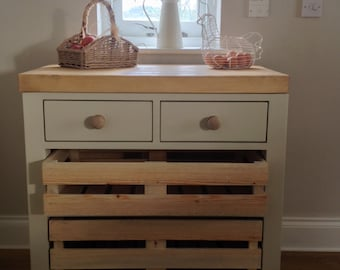 Handmade Kitchen Unit With Butchers Block Style Worktop