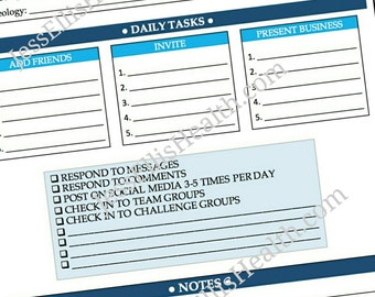 Beachbody Coach Daily Task Sheet