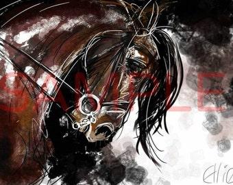 Horse - A4 print