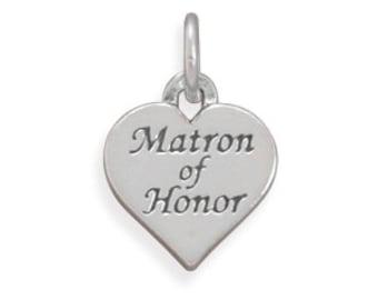 Oxidized Matron of Honor Charm