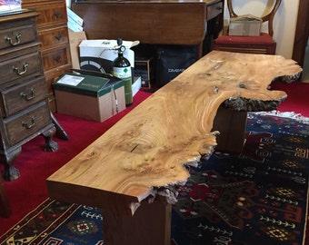 English burr Elm table