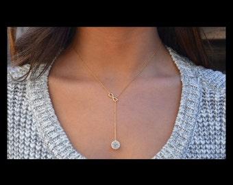 Swarovski 14k gold necklace