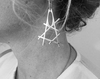 SHANGHAI Silver Earring
