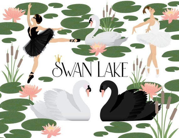 Swan Lake Clipart SWAN LAKE CLIPART from...