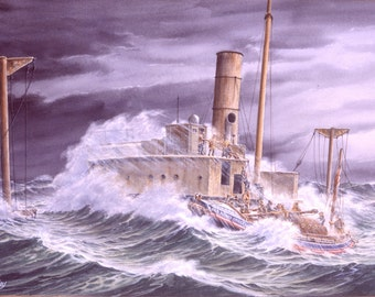 Hopelyn - rescue at sea watercolour print