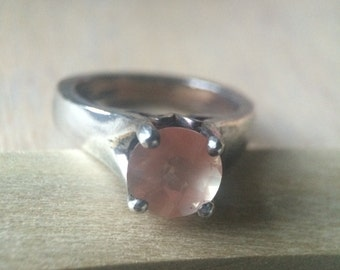 Andesine Set in Sterling Silver Ring Sz 7