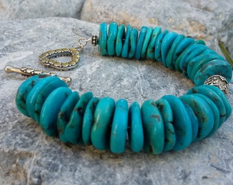 Turquoise, .025 Sterling Silver, Bracelet