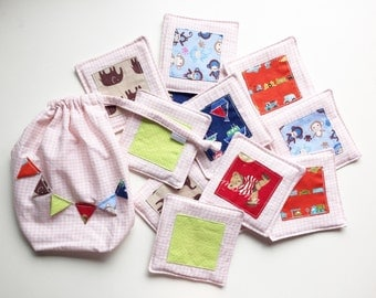 Memory Puzzles, made of fabric, memory game, matching game, toy, boy and girl