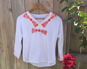 Vintage embroidered top size s