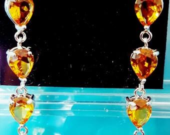 yellow topaz earrings