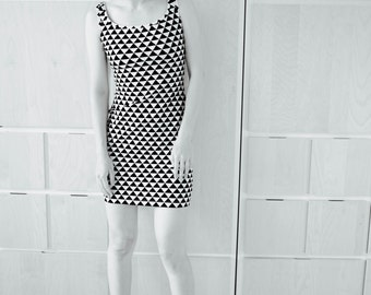Cotton Jersey dress in black and white (Special Edition)