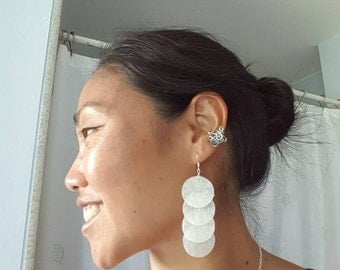Bubble Wrap the Moon earrings