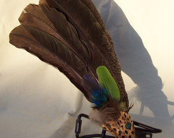 Hand-crafted Ceremonial/Smudge Feather Fan #4