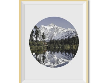 Mountain Print, Mountain Lake Photo, Mountain Wall Art, Instant Download, Mountain Printable Art, Modern Wall Art, Mountain Art, Wall decor