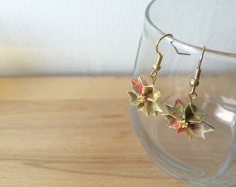 Cherry Blossom Origami Earrings (Yellow)