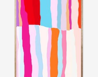 Abstract art, Abstract Print, Pink print, Digital Print, Kids room, Nursery print, Modern Art, Minimalist, Printable art, Art Work 16x20