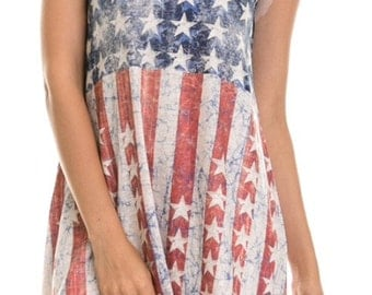 Faded American Flag Dress