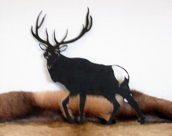 Rocky Mountain Elk, Metal Art, Wildlife
