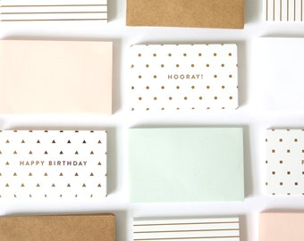 Gold Foil Mini Cards + Envelopes