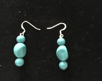 Dangle Aqua Earrings