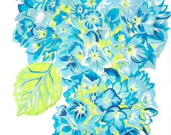 Hydrangea limited edition signed giclee fine art print