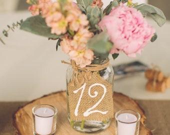 Burlap Table Numbers