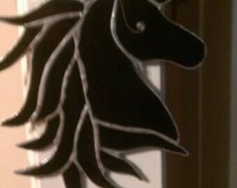 black Unicorn with mirror horn