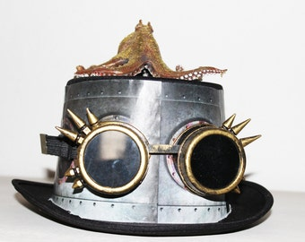steampunk hat, top hat Golden Octopus