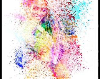 Beyonce knowles lyrics singer pop star poster print art original artist b