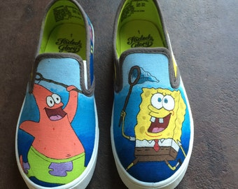 SpongeBob SquarePants Painted Shoes
