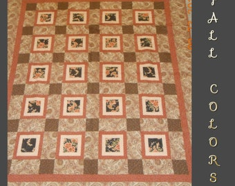Square/Square Rust Paisley