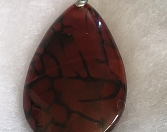 Dragon vein agate pendant