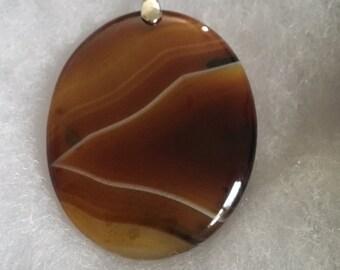Brown agate pendant