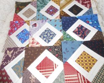 Paper Pieced Cotton Squares 3-l/2 inch