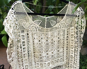 Vintage Lace Crop Top
