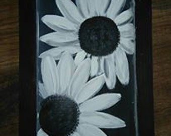 Black & White Flower Collage