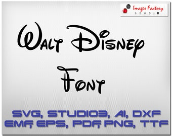 Disney font SVG cuttable Alphabet and Numbers Svg Dxf Eps TTF Cricut Design Space, Silhouette, Digital Cut Files, Instant Download