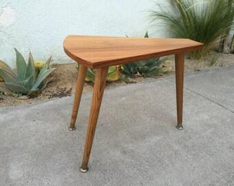 Mid Century Modern Wedge Side Table