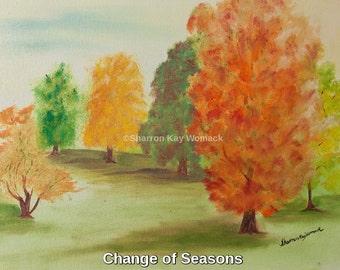 Season Change (30x24, Enhanced Oil Painted Print)