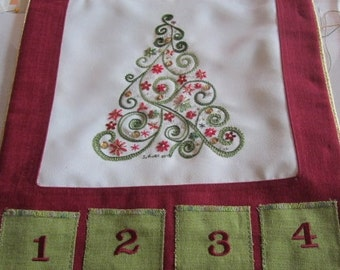 "Embroidery kit, ""Christmas tree calendar"""