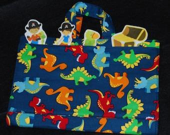 Felt Board - Flannel Board - Felt Story Board - Story Board - Travel Felt Board - Dinosaur